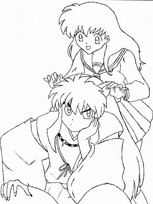 online coloring pages inuyasha - photo#14