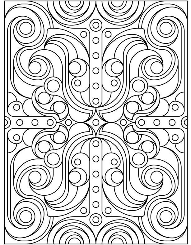 pattern coloring pages for teens - photo#16