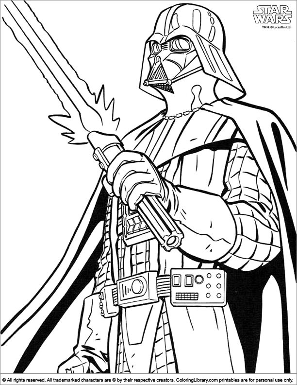 Star Wars Line Drawing Star Wars Coloring Picture