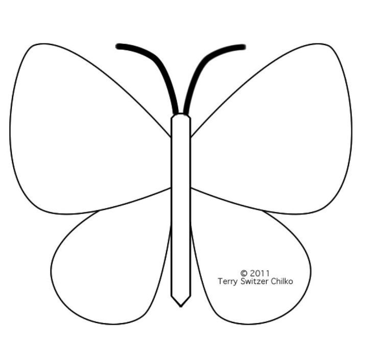 Printable butterfly template coloring home for Butterfly template pdf