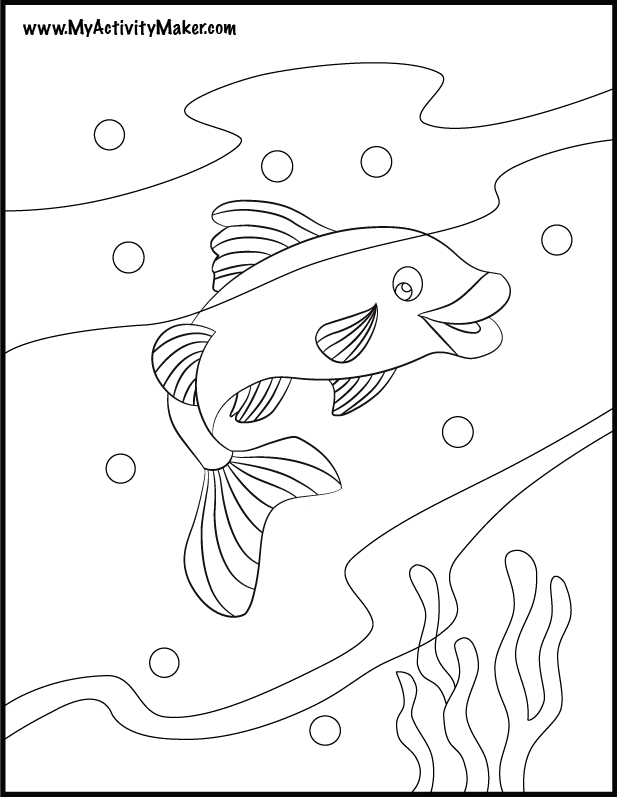 ocean plants coloring pages - photo#35