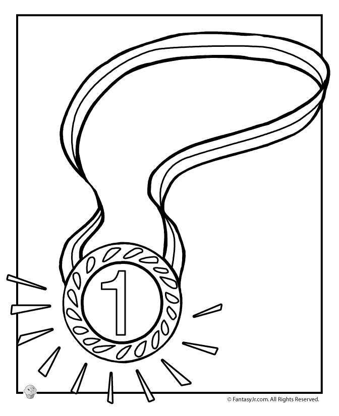 Olympic Medal Coloring Page - AZ Coloring Pages