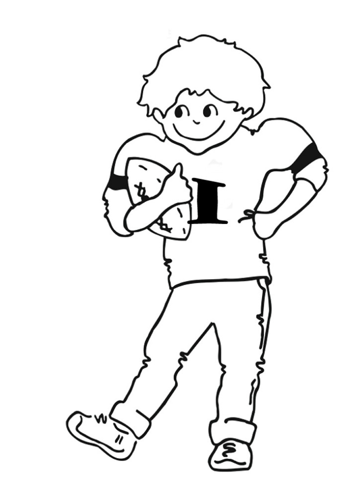 nfl football player coloring pages - photo#13