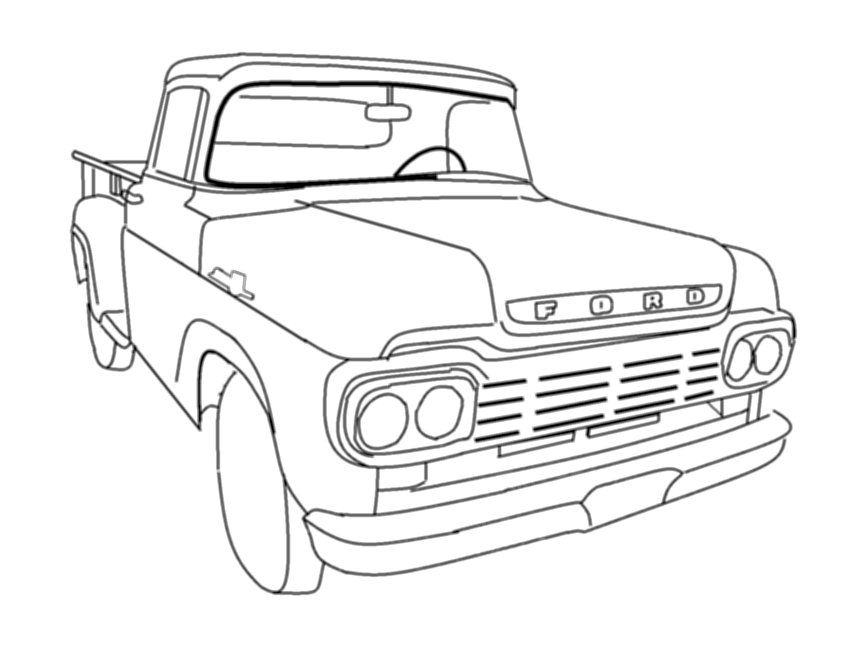 1500 truck coloring pages