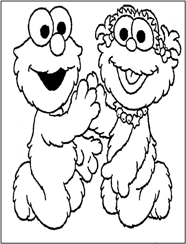 Coloring Pages Of Elmo To Print | Cartoon Coloring Pages | Kids