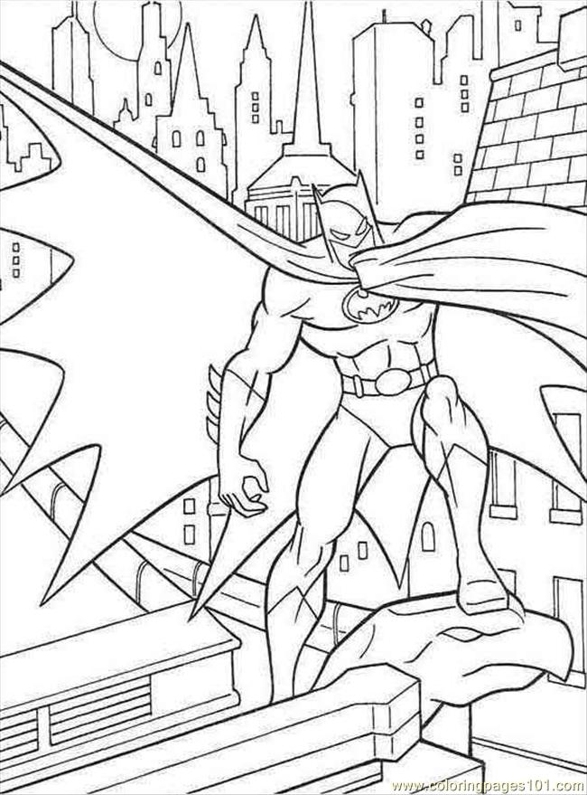 batmanbatman beyond Colouring Pages