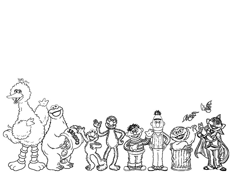 sesame street character coloring pages - photo#23