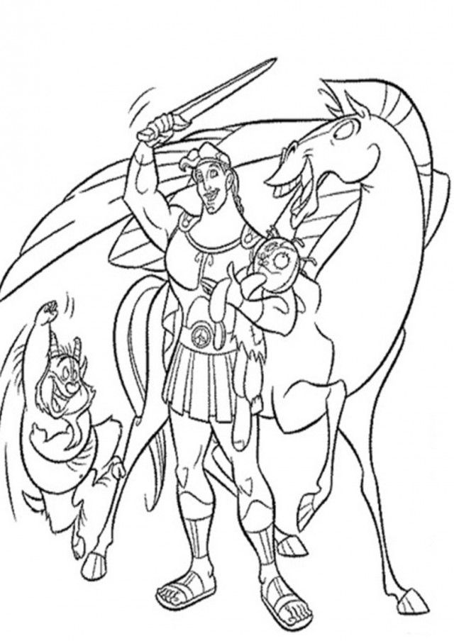 Coloring Pages Disney Hercules : Disney hercules coloring pages home