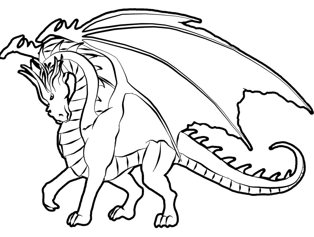coloring pages with dragons - photo#26