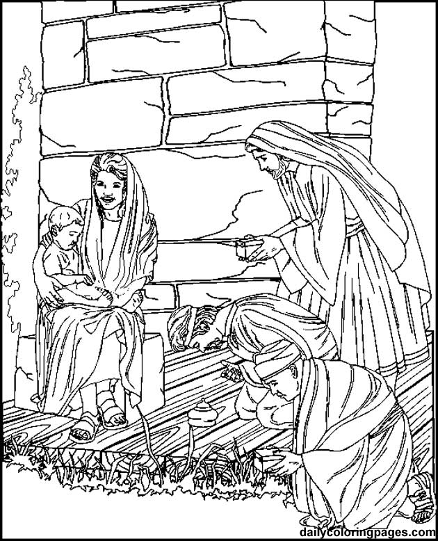 free catholic christmas coloring pages - photo#17