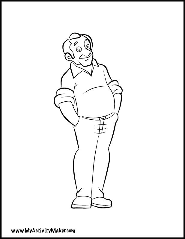coloring pages of a dad - photo#7