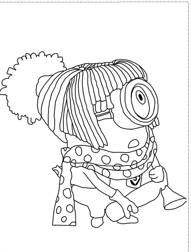 The Stuart Girl Despicable Me 2 Coloring Pages - Despicable Me