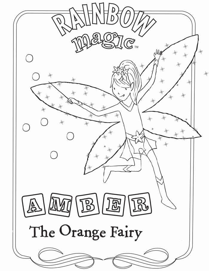 magical fairies coloring pages - photo#24