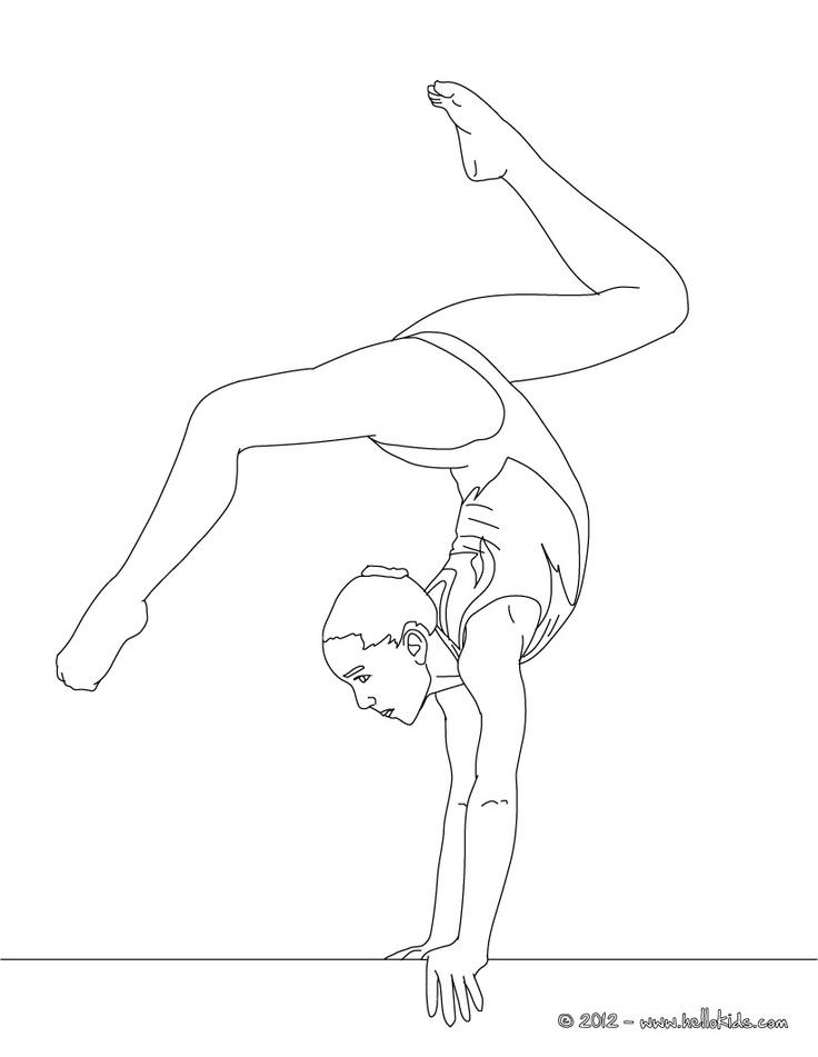 i love gymnastics coloring pages - gymnastics coloring pages for kids az coloring pages
