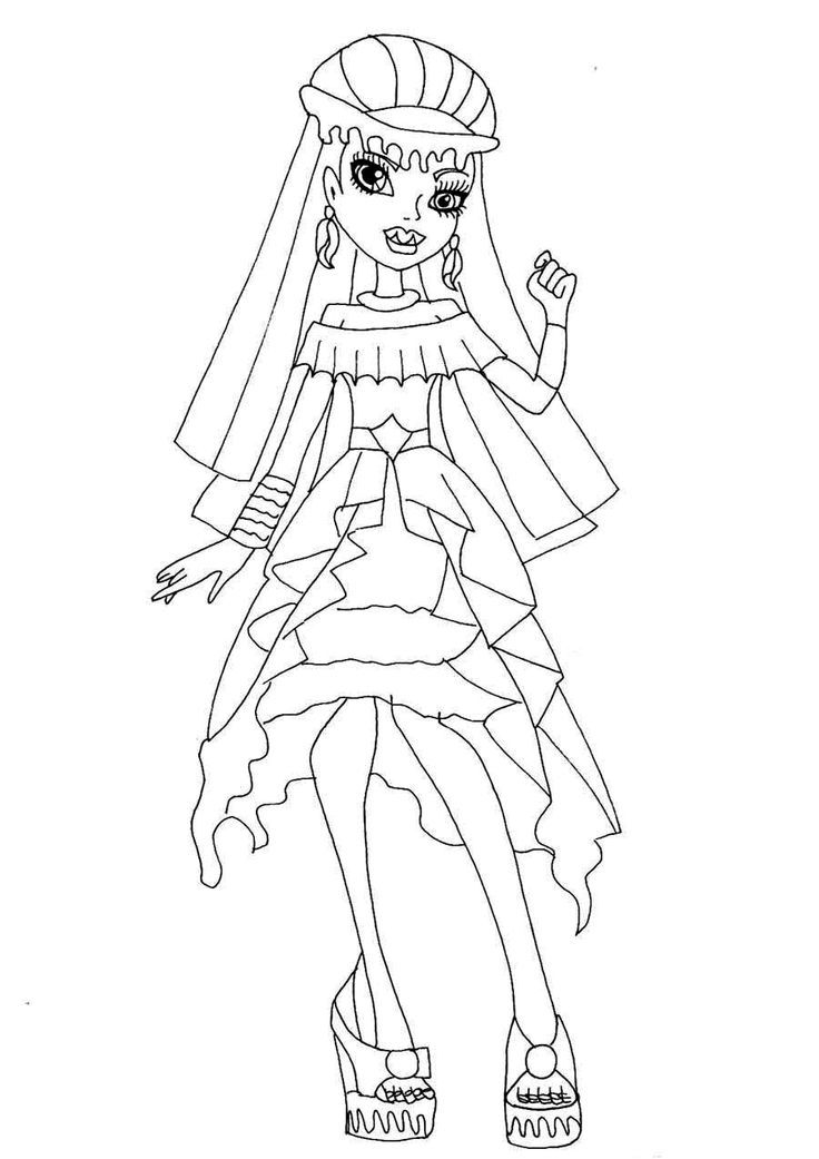 Monster high coloring pages abbey coloring home for Monster high abbey coloring pages