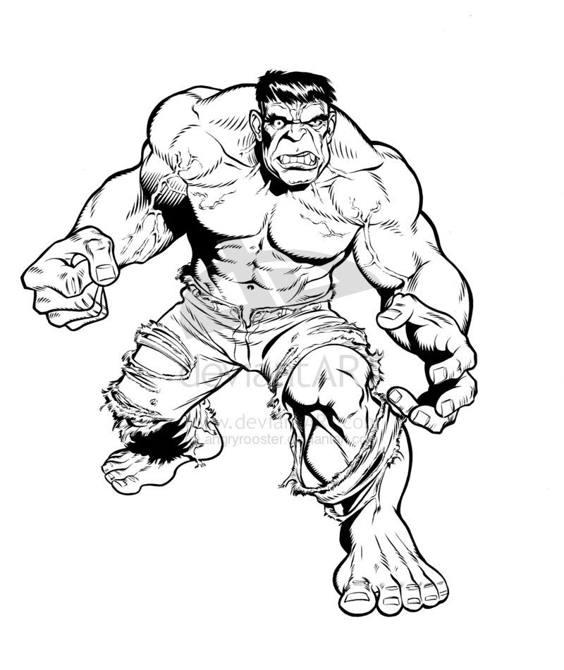 Hulk Face Line Drawing : Drawing of the hulk coloring home