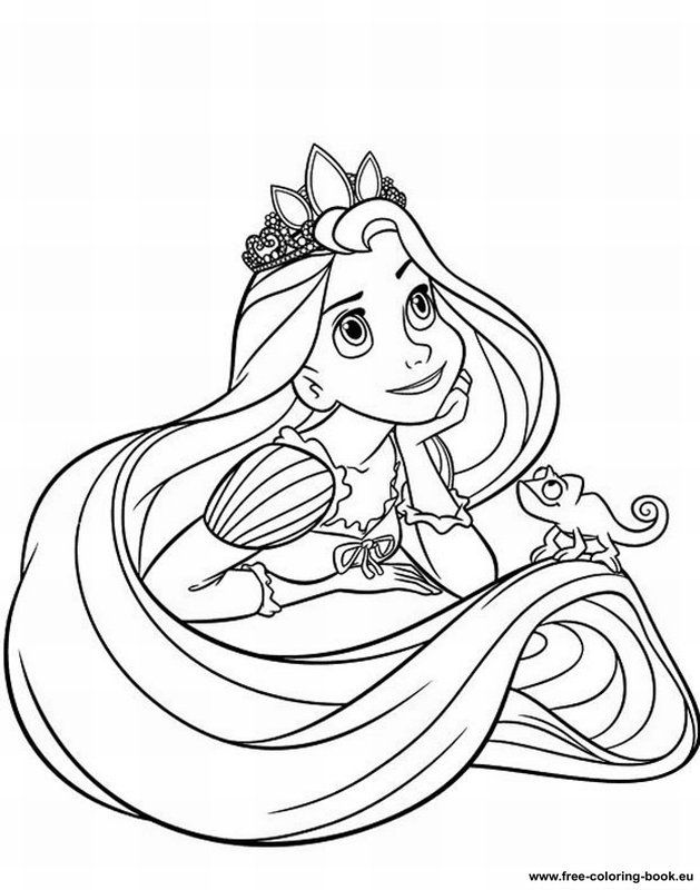 Rapunzel Coloring Page Coloring Home