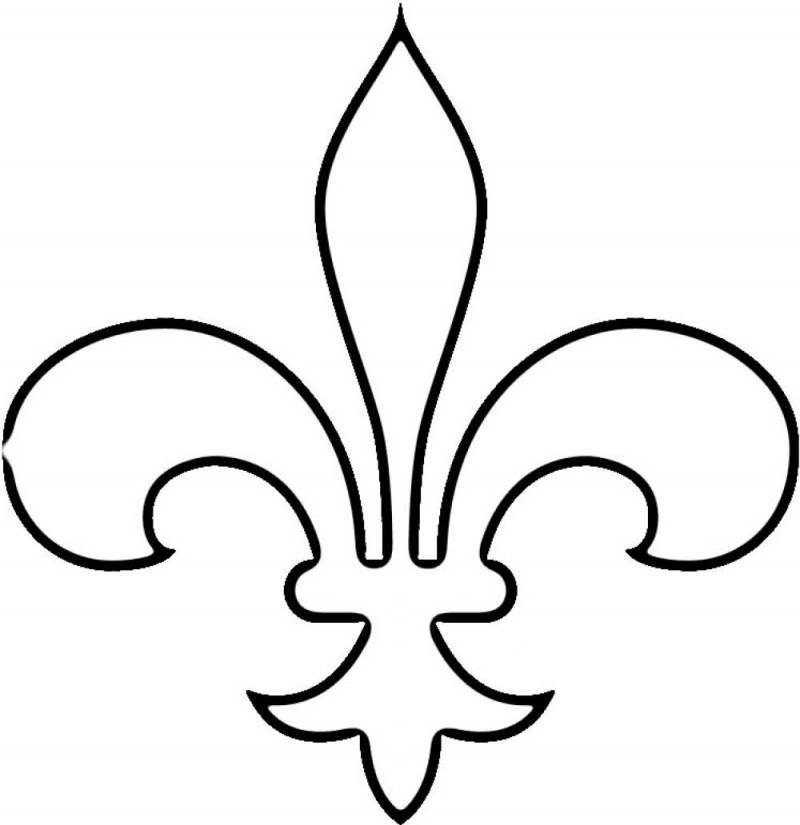 fleur de lis coloring pages - photo#5