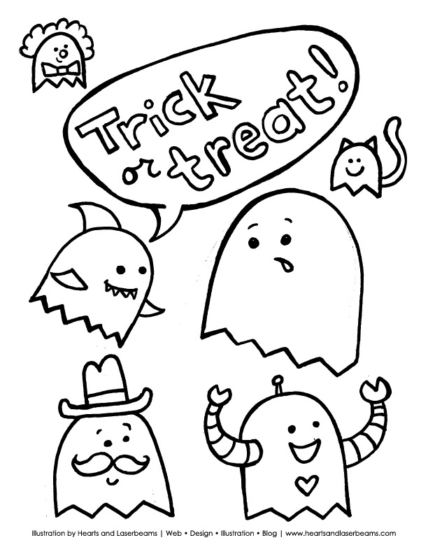 Cute halloween coloring pages az coloring pages for Cute halloween coloring pages free