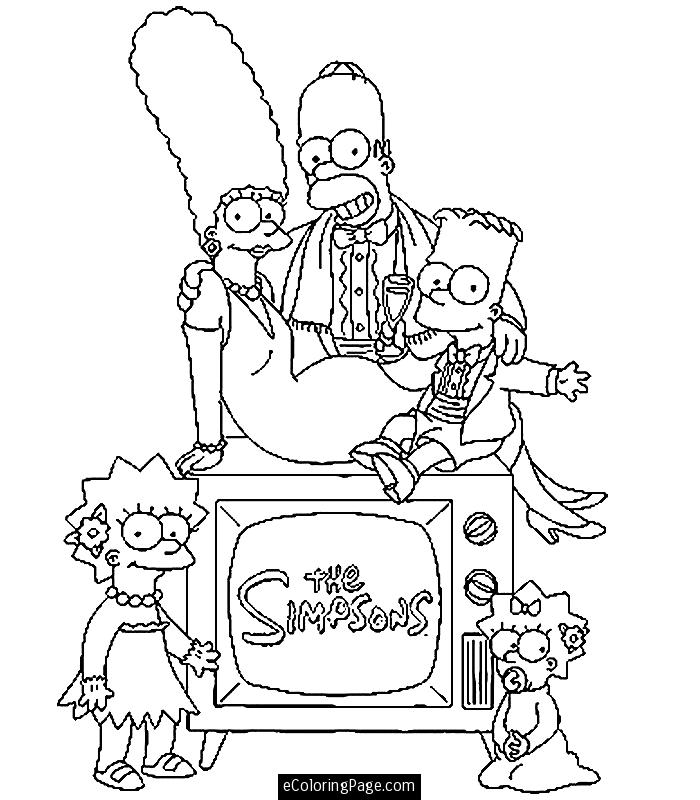 the simpsons coloring book pages - photo#3