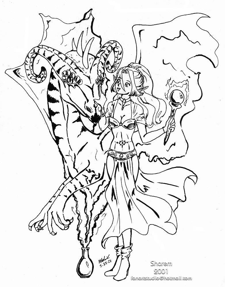 Anime Coloring Book Pages - Coloring Home