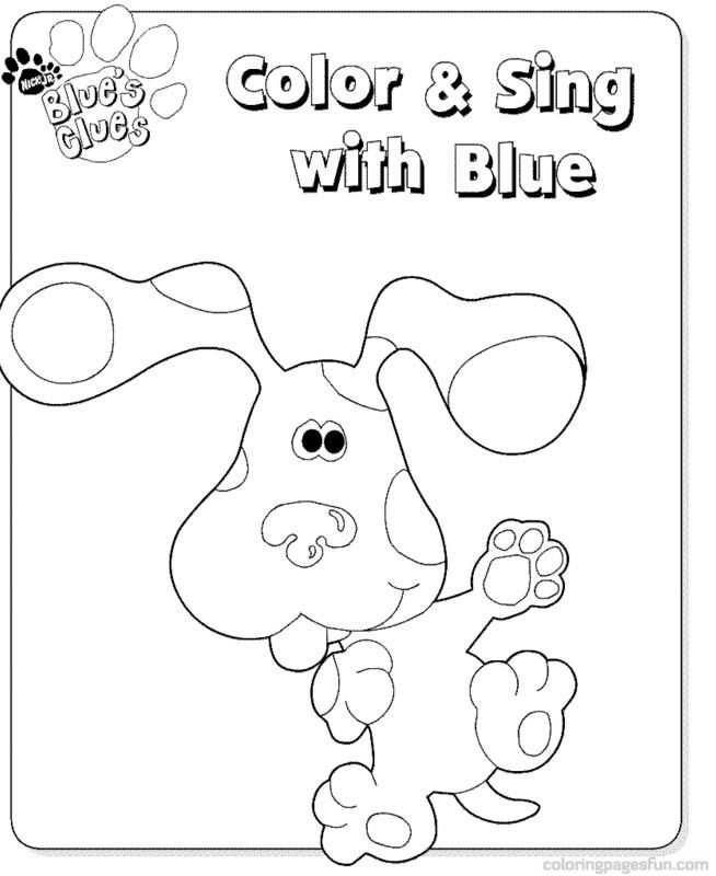 Blues clues pictures coloring home for Blue clues coloring pages
