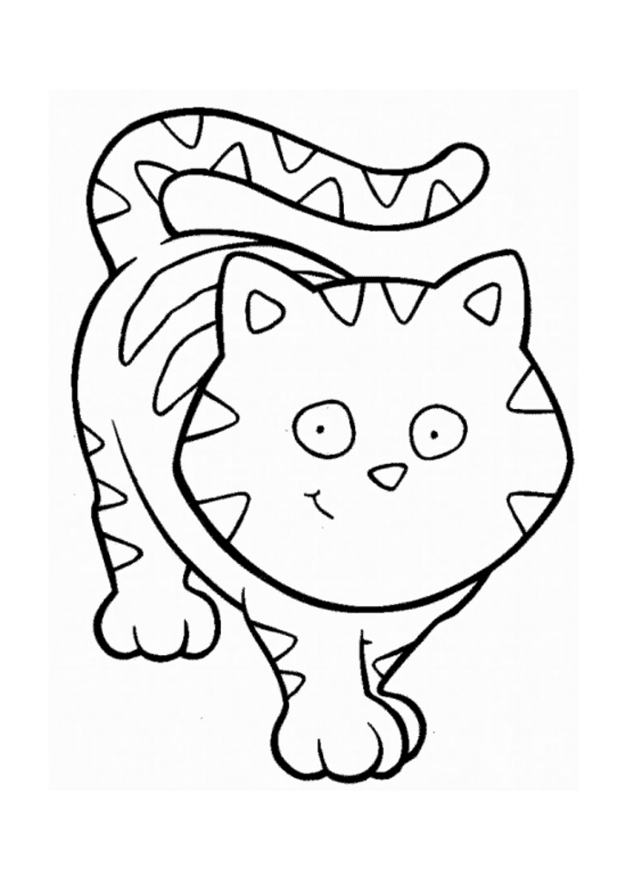 funny cat cartoon animal coloring pages