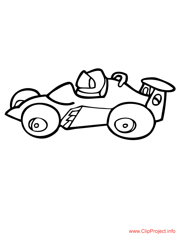 RACE CAR Colouring Pages (page 3)