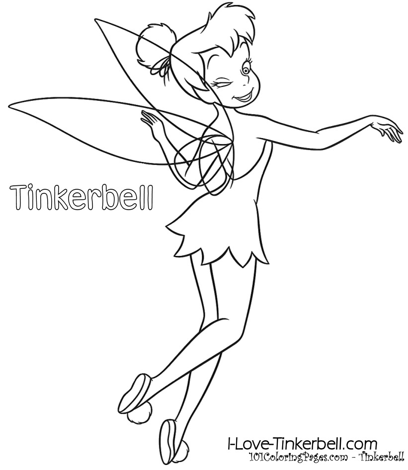 Tinkerbell Coloring Pages | 101ColoringPages.