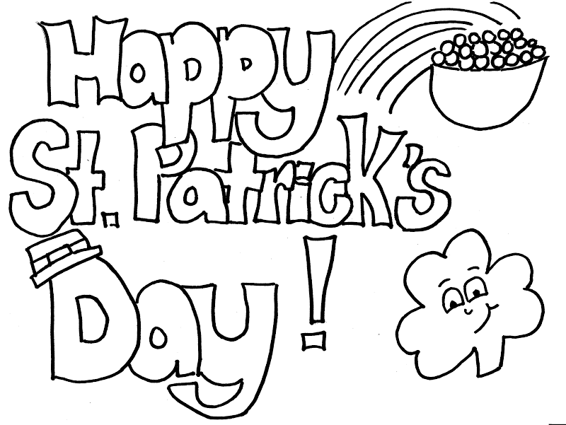 Printable St Patricks Day Coloring Pages