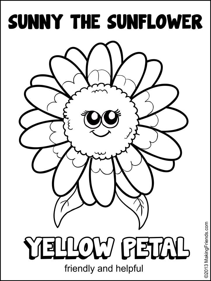 Daisy flower coloring page az coloring pages for Daisy petal coloring page