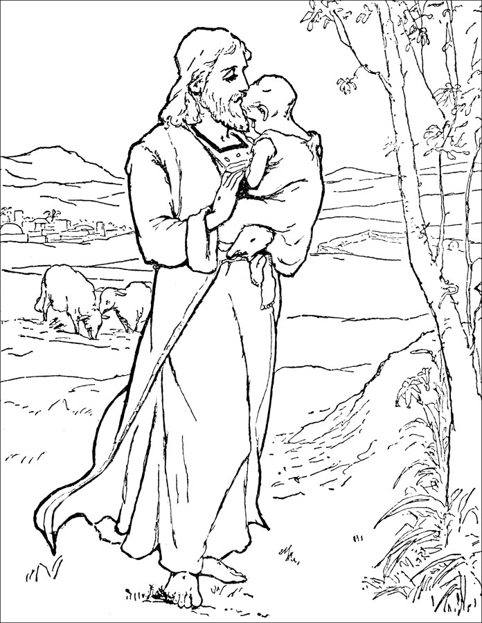 child bible story coloring pages - photo#7