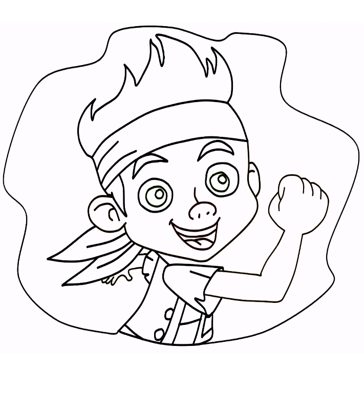 Jake neverland coloring pages for Jake the pirate coloring pages