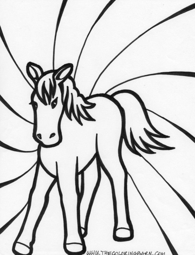 horse head coloring pages - photo#25