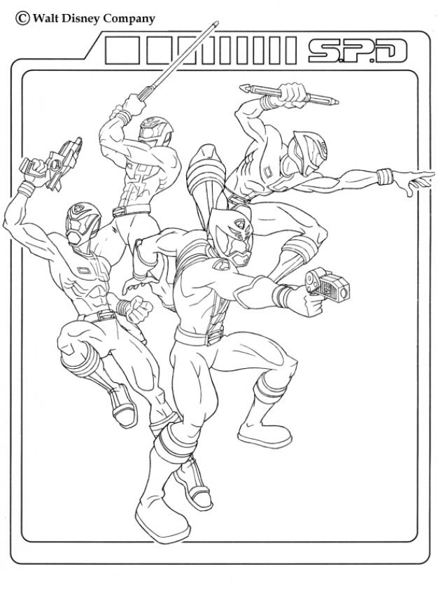 POWER RANGERS coloring pages - Power rangers team