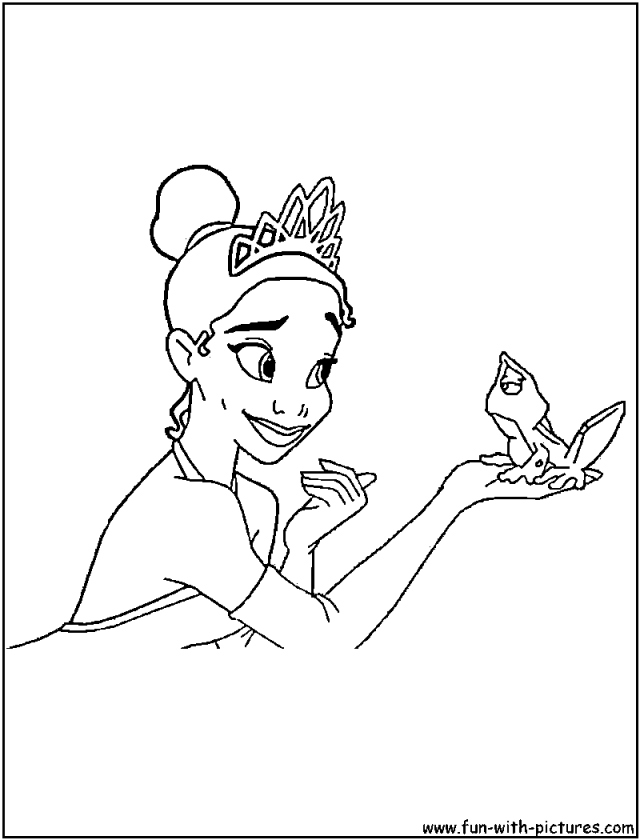 Coloring Pages Princess Pdf : Princess tiana color pages printable disney