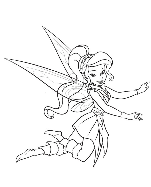 silver mist tinkerbell coloring pages - photo#14
