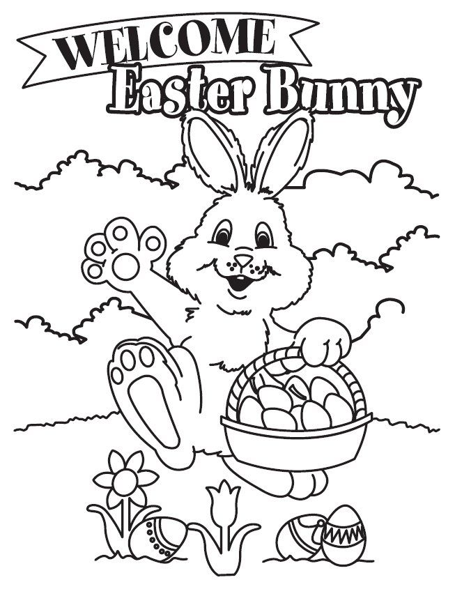 Easter Bunny Coloring Pages For Kids Coloring Home