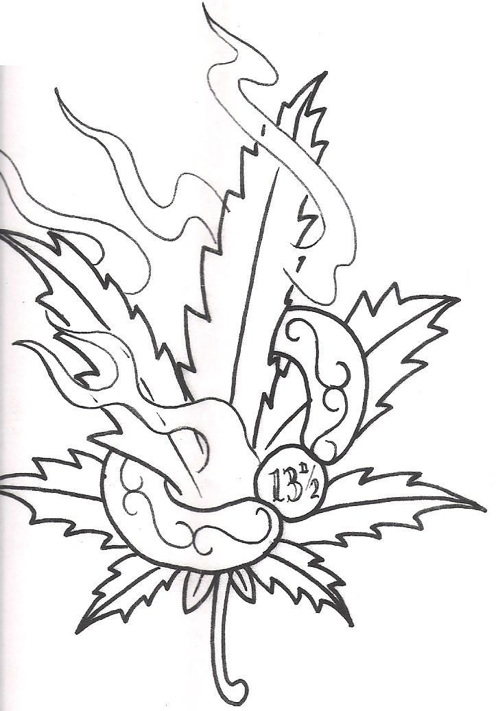 Pot Leaf Coloring Pages Coloring Home