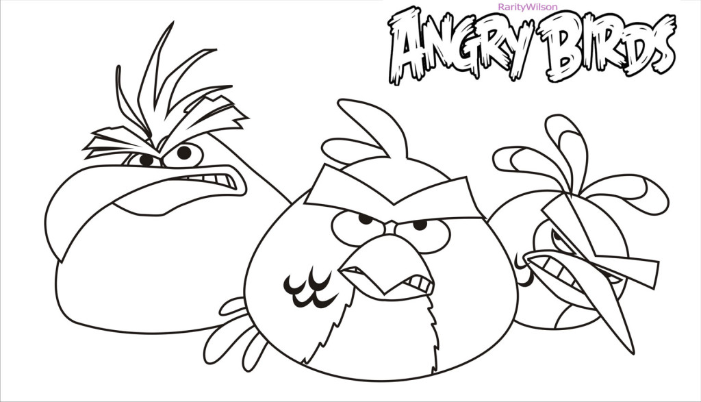 Ausmalbilder Angry Birds Space: Space Angry Birds Coloring Pages