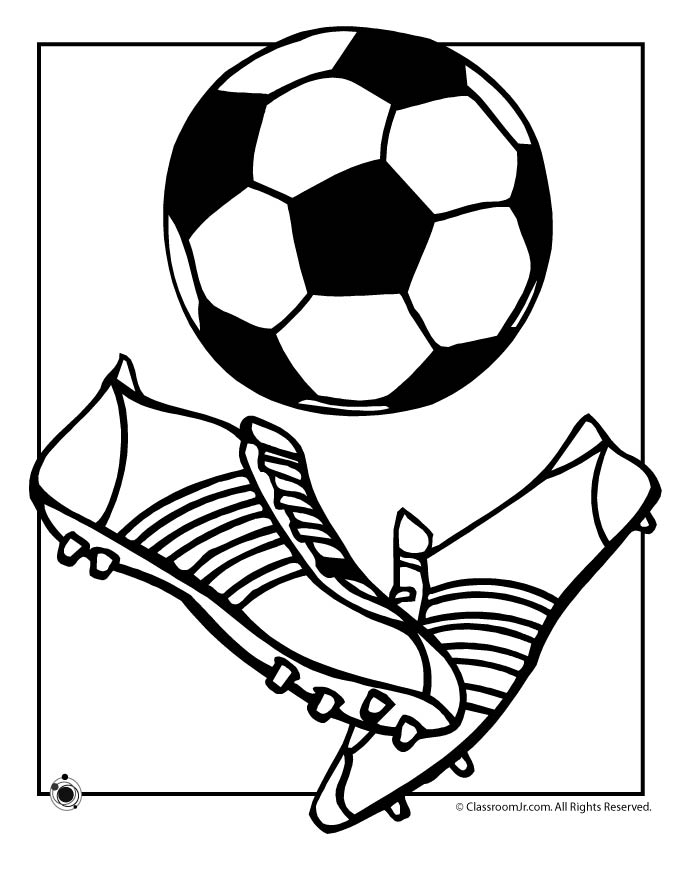 soccer and coloring pages - photo#8