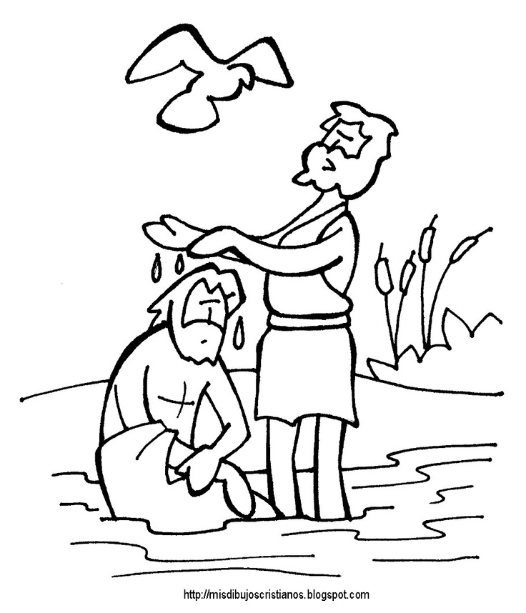 baptism coloring pages for children - photo#7