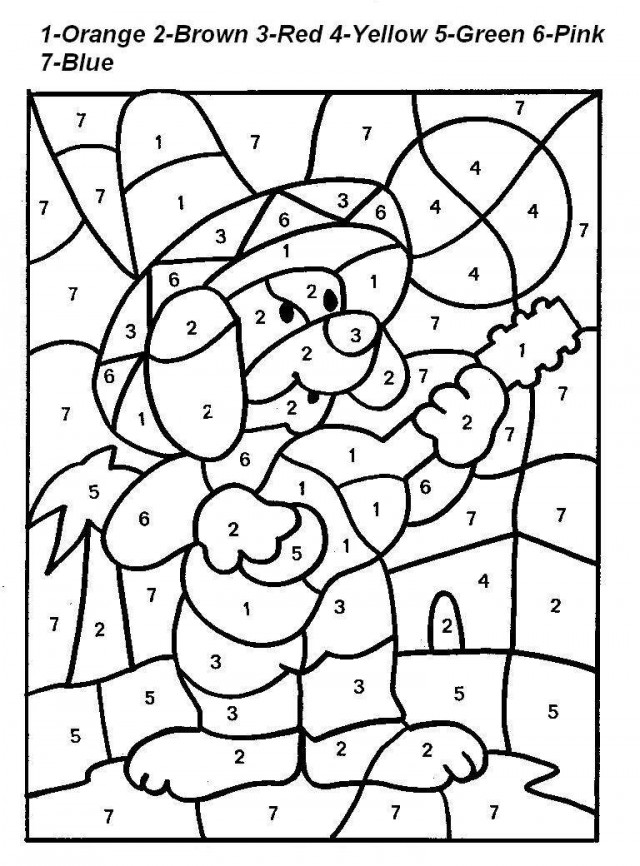 Color By Numbers For Kids Az Coloring Pages Color By Number Pages