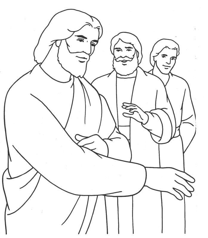 Jesus And Children Coloring Page - Coloring Home
