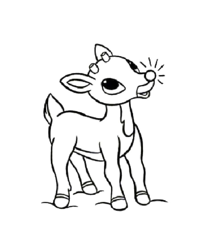 Christmas Reindeer Coloring Pages - Coloring Home