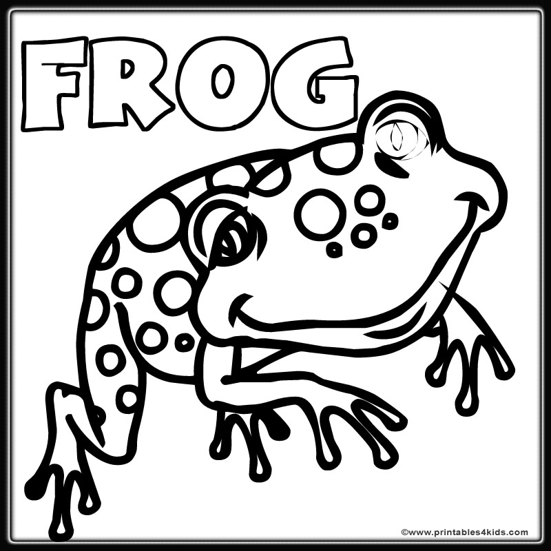 Frog coloring pages printable az coloring pages for Free printable frog coloring pages
