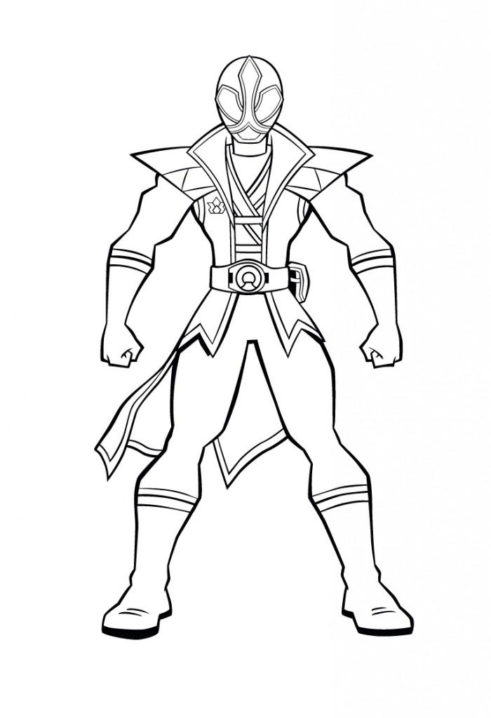 Power Ranger Coloring Page AZ