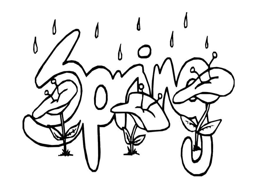 coloring pages spring az coloring pages