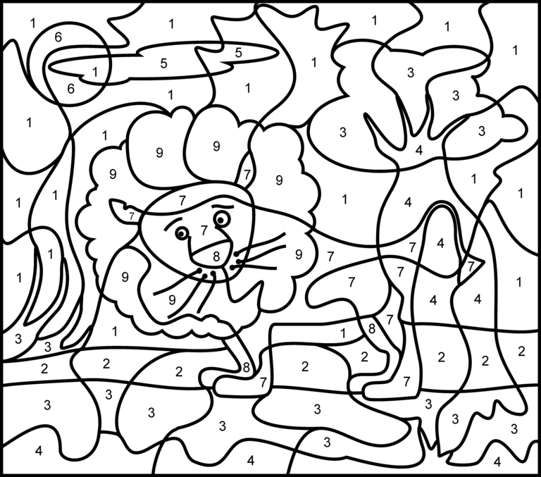 colour by numbers coloring pages - photo#26