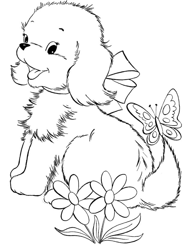 cute puppy coloring pages images - photo#4